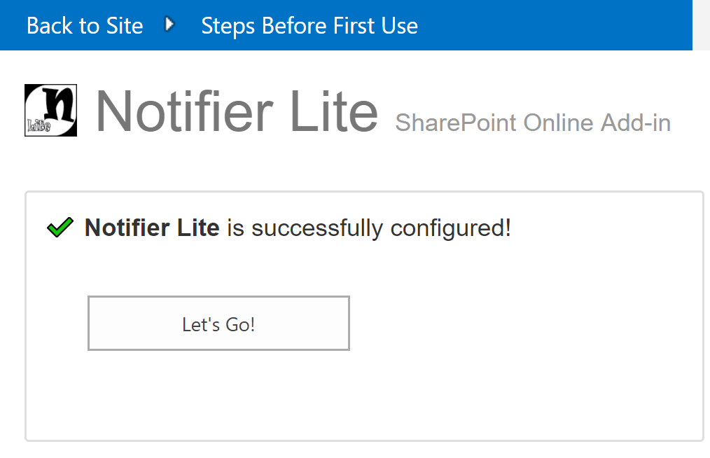 Notifier Lite is ready to use