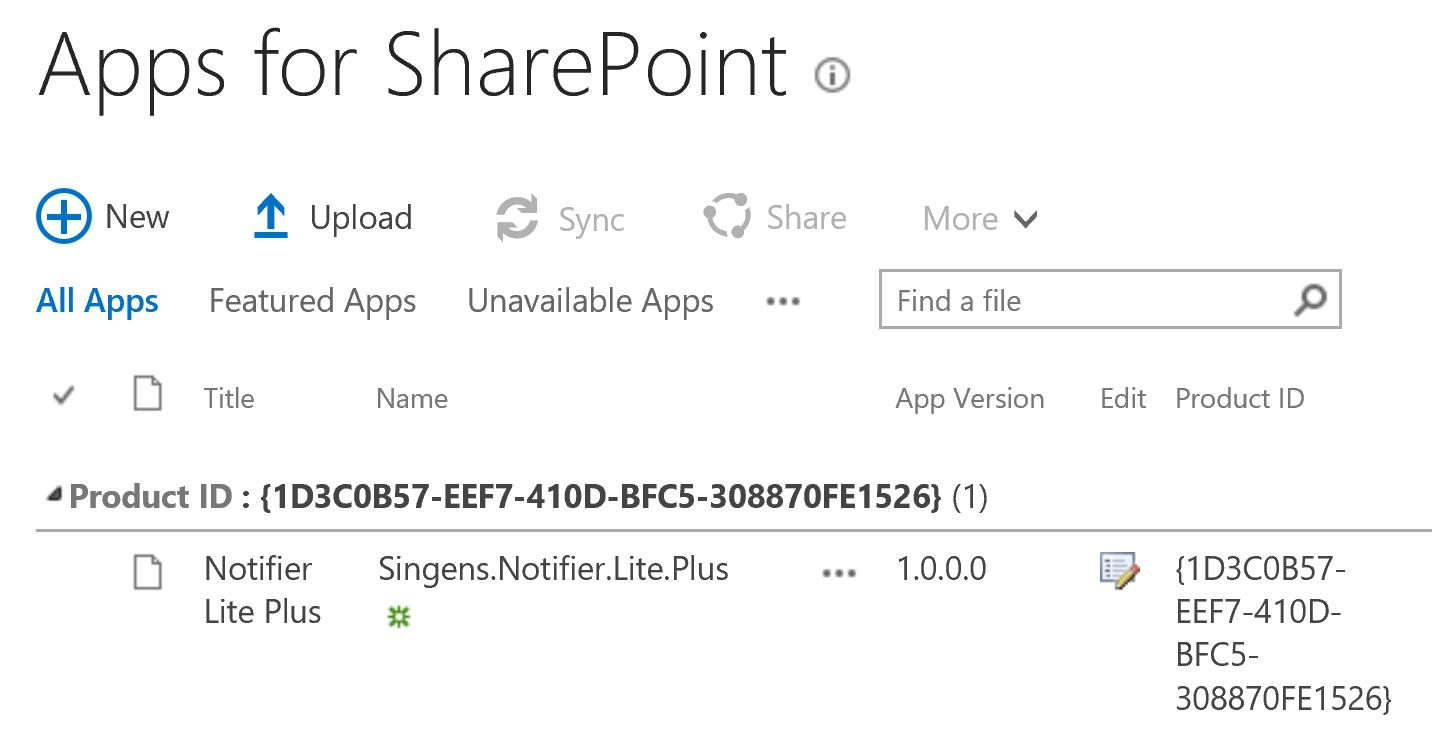 Upload singens.notifier.lite.plus.app