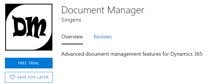 Find Document Manager in the Office Store